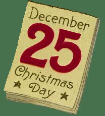 December 25th Calendar Image