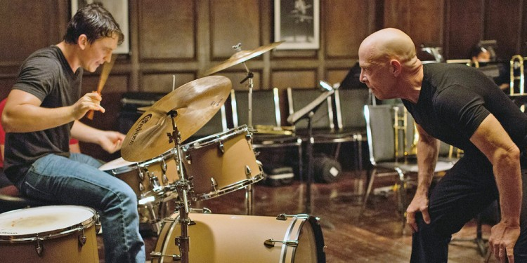 Miles Teller plays Andrew Neiman and J.K. Simmons plays Terence Fletcher in 'Whiplash.'  Sony Pictures Classics