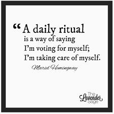 a daily ritual