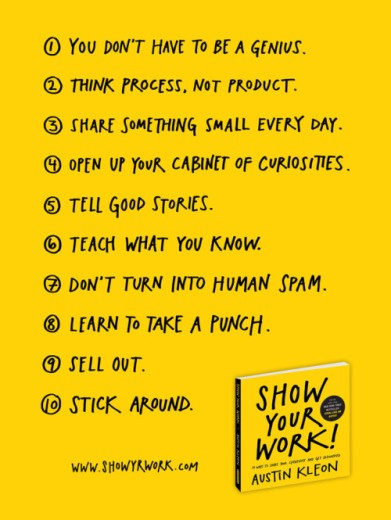 show-your-work-list-poster austin kleon